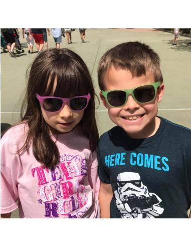 Okulary przeciwsłoneczne dla dzieci 4 10l Kameleo, Yellow to Pink