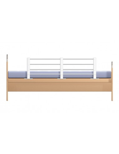 Barierka Ochronna Do łóżka 80 140 Cm Biało Szara